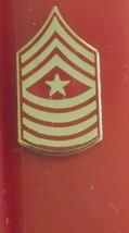 Usmc Us Marine Corps E-9 Serg EAN T Major Necktie Tie Tac Lapel Sweetheart Pin - $9.89