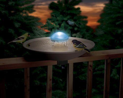 Allied Precision Aurora changing lights Wiggler Water Agitator Bird Bath