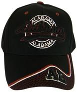 Alabama AL Men's Curved Brim Adjustable Baseball Cap Black/Crimson - $10.95