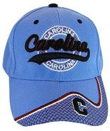 North Carolina Men's Curved Brim Adjustable Baseball Cap Light Blue - $10.95