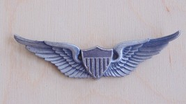 "USAAF ARMY AIR FORCE PILOT 2.5"" MEYER STERLING SILVER WING BADGE PARTS R... - $34.64"