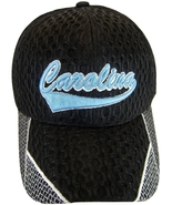 North Carolina Men's Summer Mesh Curved Brim Adjustable Baseball Cap Bla... - $8.95
