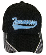 Tennessee Men's Summer Mesh Curved Brim Adjustable Baseball Cap Black/Blue - $8.95