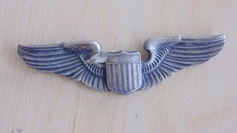 "USAAF ARMY AIR FORCE PILOT'S 3"" JEWELER STERLING SILVER WING BADGE PARTS... - $54.44"