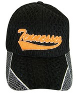 Tennessee Men's Summer Mesh Curved Brim Adjustable Baseball Cap Black/Or... - $8.95