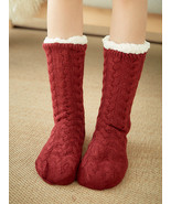 Women Home Carpet Sock Plus Velvet Comfy Floor Sock - £14.50 GBP