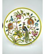 "Noble Excellence GREEN BIRD Charger Plate 12"" Portuguese Earthenware Pea... - $19.99"