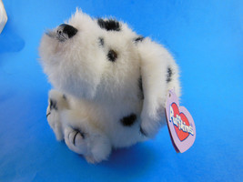 "Puffkins Bean Bag Swibco Cinder Dalmation Dog Plush Mint with Tag 4.5"" - $6.62"