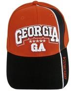 Georgia GA Men's 2-Tone Curved Brim Adjustable Baseball Cap Red/Black - $9.95