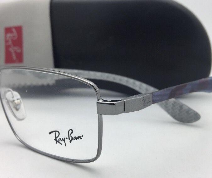 459c908442 RAY-BAN Rx-able Eyeglasses TECH RB 8414 2502 55-18 Gunmetal   Carbon Fiber  Frame