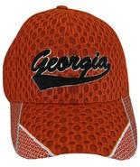 Georgia Men's Summer Mesh Curved Brim Adjustable Baseball Cap Red/Black - $8.95