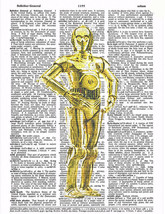 Art N Wordz Star Wars C-3P0 Original Dictionary... - $21.00