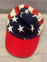 Bandera EEUU Blanco Rojo Azul Estrellas Tiras Ajustable Niños Gorra - $6.25