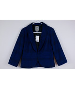 NWT Forever 21 Career Jacket Women's Lined Navy Blue Black One-Button Bl... - $16.64