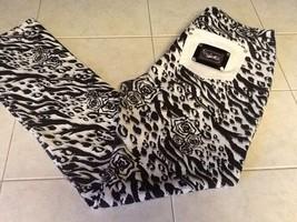 Rocawear~Skinny Leg Black / White Print 5 Pocket Jeans   NWOT Size 11j - $18.69