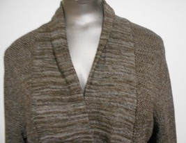Nordstrom Classiques Entier Sm. Brown Linen Blend Fitted Waist Sweater C... - $11.72