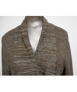 Nordstrom Classiques Entier Sm. Brown Linen Blend Fitted Waist Sweater C... - $15.55
