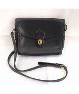 COACH Black Leather DEVON Vintage Cross Body Ba... - $49.49