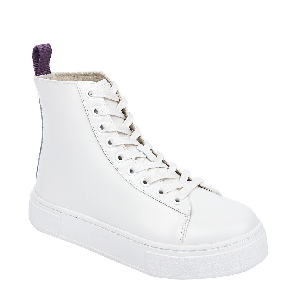Eytys Women's Kibo Leather High-top Sneakers KIBOLEATHER White, EU 37 / US 6~...