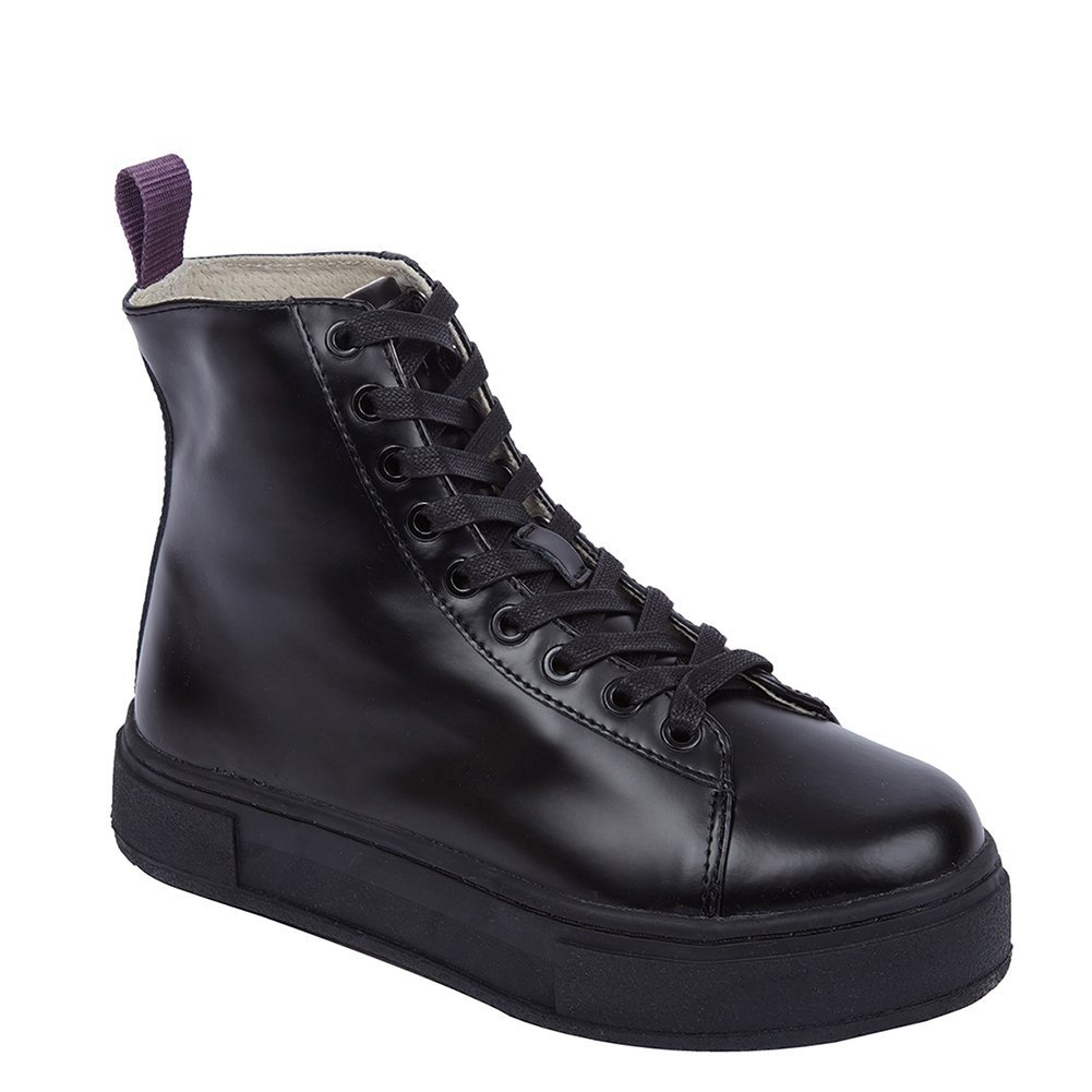 Eytys Women's Kibo Leather High-top Sneakers KIBOLEATHER All Black, EU 39 / U...