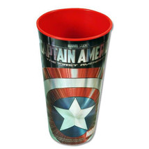 CAPTAIN AMERICA 24 OZ. CUP * SET OF 2-CUPS BY ZAK DESIGNS - $8.95
