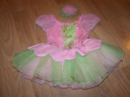 Child Size Small 4-6 Weissman Pink Green Skirted Dance Leotard Tutu Skir... - $45.00