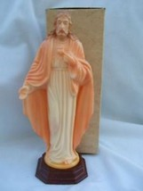 "Vintage Catholic HARTLAND Statue Sacred Heart Jesus in Original Box 8 1/2"" - $22.42"