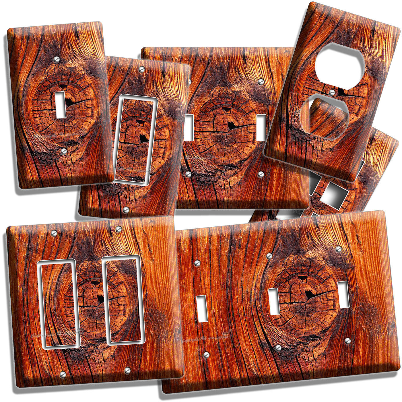 Rusted Old Wood Eye Rustic Light Switch Wall Plate Outlet
