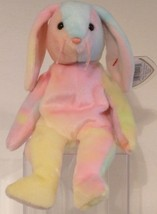 Ty B EAN Ie Babies 1999 - Hippie The Ty-dyed Bunny - Retired - Mwmt - $13.27