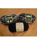 Lion Brand 153 Ebony & Sensations 119 Licorice Wool Yarn Skein Ball Mixed Lot - $29.99