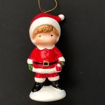 Vintage Hallmark Christmas Ornament 80s Joan Walsh Anglund Santa 1982 Ce... - $45.00