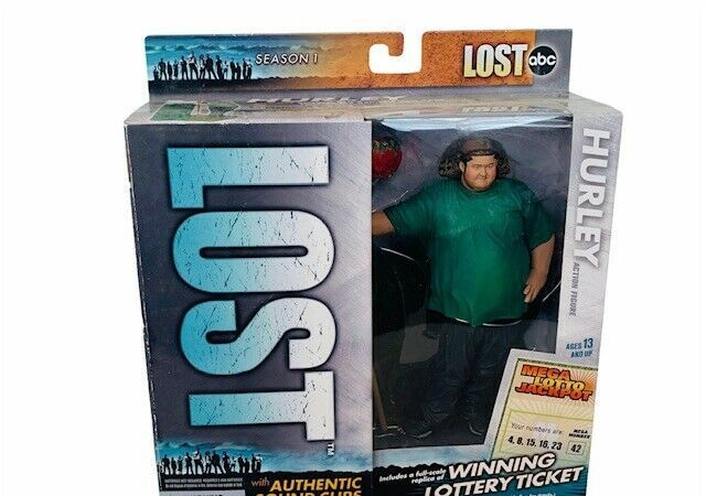 Primary image for Hurley Lost Mcfarlane toy Action Figure NIB box Sound Clips TV show Jorge Garcia