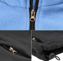 Men's Full Zip-Up Two Tone Solid Warm Polar Fleece Soft Collared Sweater Jacket image 13