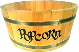 """SPAULDING AND FROST WOOD BARREL LARGE 12"""" POPCORN BOWL - €14,62 EUR"""