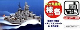 Fujimi model Chibi Chibi fleet Haruna Deluxe model etched parts color plastic mo - $25.00