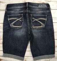 Silver J EAN S Shorts Mid Rise Eden Denim Stretch Cuffed Jean Short 28 - $24.97