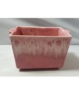 Haeger USA Pottery Painted Ceramic Pink Planter Rectangle Pot Home Garden - $29.29