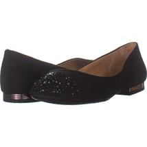 Jessica Simpson Genia Slip On Ballet Flats 023, Black Micro, 9 US - $29.75