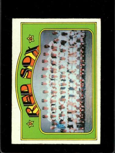 1972 TOPPS #328 RED SOX TEAM VG+ RED SOX NICELY CENTERED  *X01261