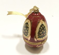 Valerie Parr Hill Mr Christmas Musical Egg Ornament Silent Night Holiday - $18.51