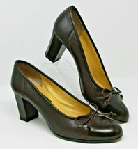 Fendi Size 7.5 M Brown Leather Made in Italy Vintage Leather Heels Shoes... - $123.49