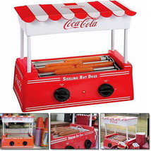 Vintage Look Hot Dog Roller Grill Mini Electric Hotdog Cooker Machine Bu... - $59.39