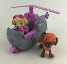 Paw Patrol Skyes High Flying Copter w Zuma Figures Spin Master Helicopter Rescue - $18.76
