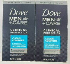 Lot 2 Dove Clinical Protection CLEAN COMFORT Antiperspirant Deodorant 1.... - $16.78