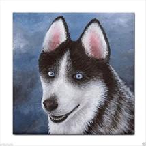 Ceramic Tile Coaster from original painting art Dog 96 Siberian Husky - $13.99