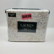 Lauren Ralph Lauren Queen Sheet Set 4 Piece Watercolor Floral Soft Paste... - $94.95