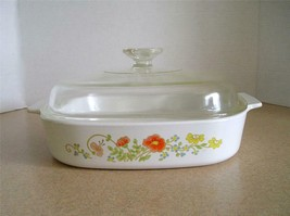 "Vintage Corning Ware 10"" x 10"" x 2"" Wildflower Casserole Dish with Lid  A-10-B - $14.20"