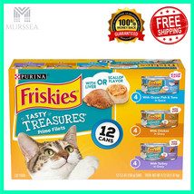 Purina Friskies Treasures Adult Wet Cat Food Variety Pack Fish & Poultry... - $9.90