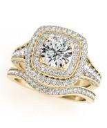 Womens Wedding Bridal Diamond Ring Set 14k Yellow Gold Finish 925 Solid ... - $94.99