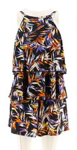 Fit 4 U Hi Neck Double Tiered Romper Swimsuit Spice Multi 26W NEW A288587 - $26.71